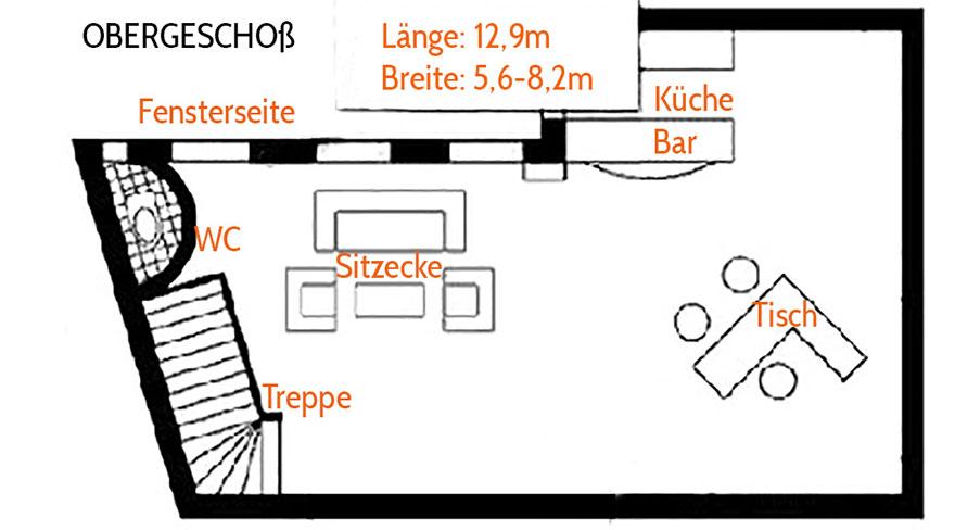 FOTOLOFT WIEN - Mietstudio Obergeschoß - Grundriß